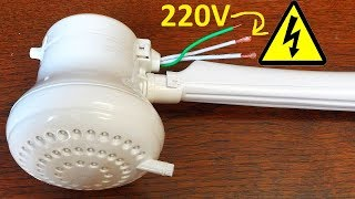 "Electric heated ""suicide"" shower PART 1 - teardown & calculations"