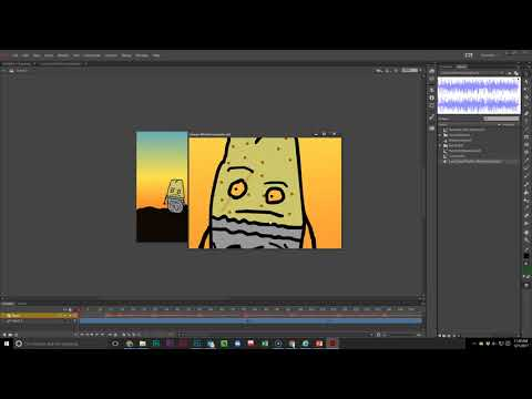 Adobe Animate: How to Add Music to Charlie Brown Dance Project