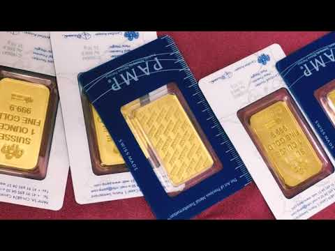 SD Bullion Unboxing Video PAMP New Design 1 Oz Gold Bars