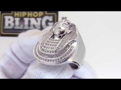 Pharaoh CZ Mens Ring | .925 Sterling Silver | Bling Bling Jewelry