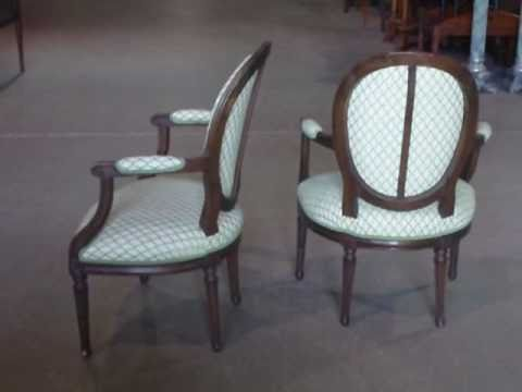 +ANTIQUE FRENCH CARVED WALNUT ARMCHAIRS