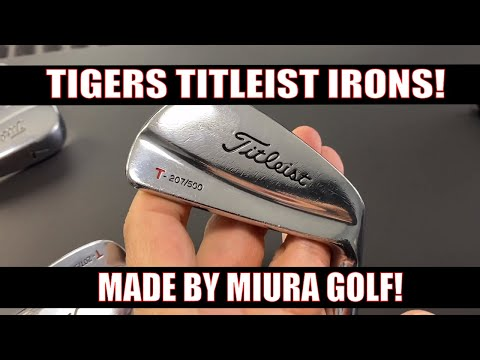 The RARE TIGER WOODS TITLEST IRONS Made By Miura Japan!