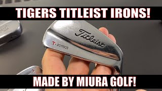 The RARE TIGER WOODS TITLEST IRONS Made by Miura Japan!!