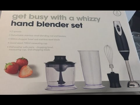 opening my new hand blender set from wilko uk youtube. Black Bedroom Furniture Sets. Home Design Ideas