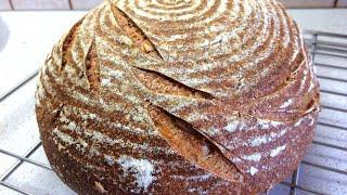 Самый Вкусный Хлеб на закваске c медом и оливковым маслом The Perfect Sourdough Bread Recipe