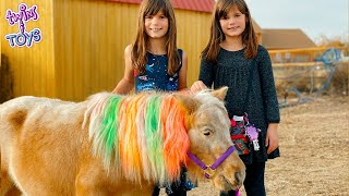 Kate and Lilly Get a Surprise Present - Tiny Ponies!