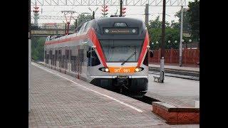 Железная дорога От Заславля до Минска  на поезде Stadler FLIRT