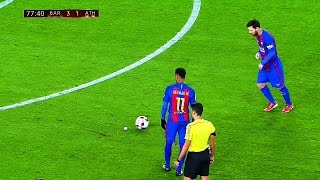10 Ridiculously Smart & Cheeky Things Lionel Messi Did in 2017 Season ||HD||