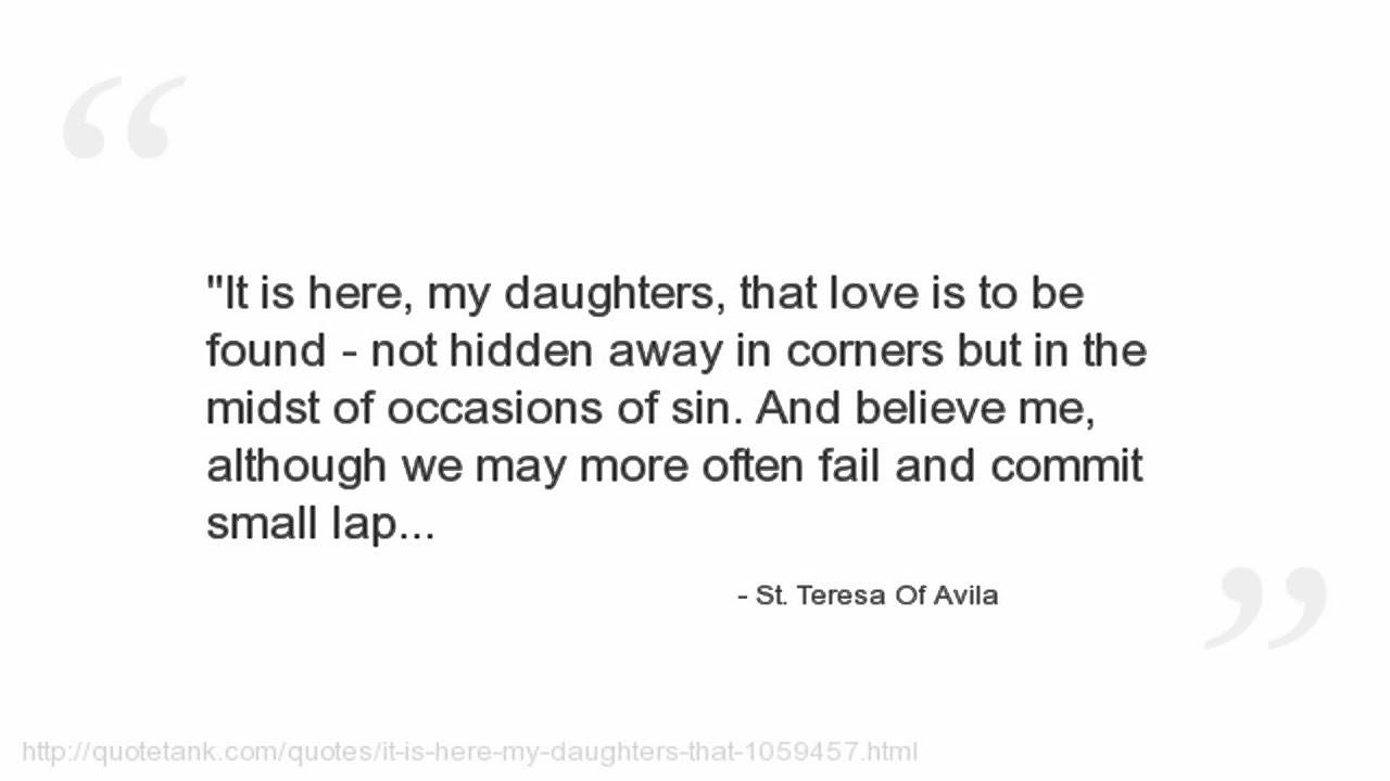 St Teresa Of Avila Quotes | St Teresa Of Avila Quotes Youtube