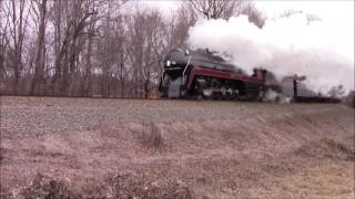 N&W 611 Roanoke to Spencer (first run of 2017)