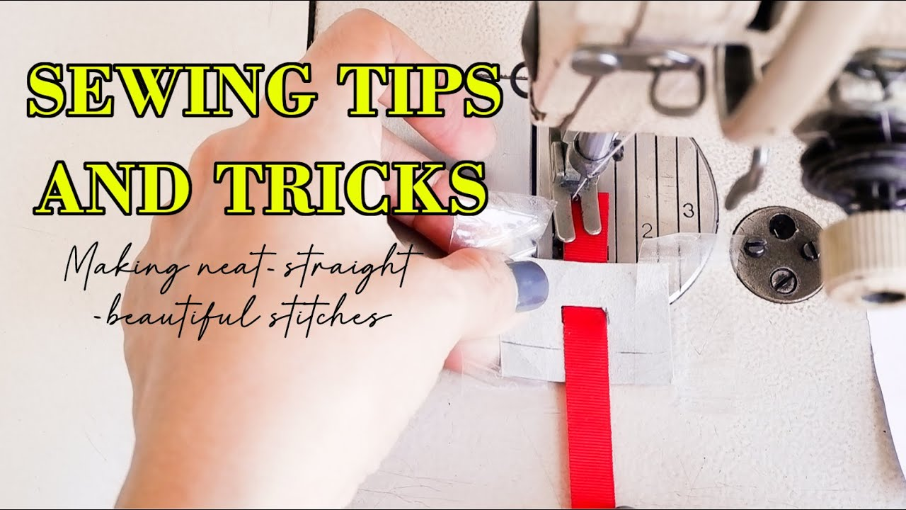 ❤5 Sewing Tips And Tricks For Making Neat - Straight And Beautiful Stitches | Thuy Sewing