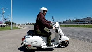 My friend Amy bought a Vespa GTS300!