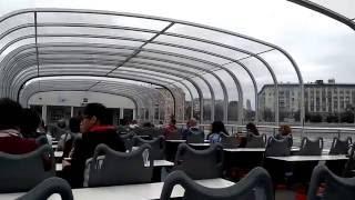 Смотреть видео Эпичный отход от Пречистенской набережной. Парк Культуры. Прогулка по Москва-реке онлайн