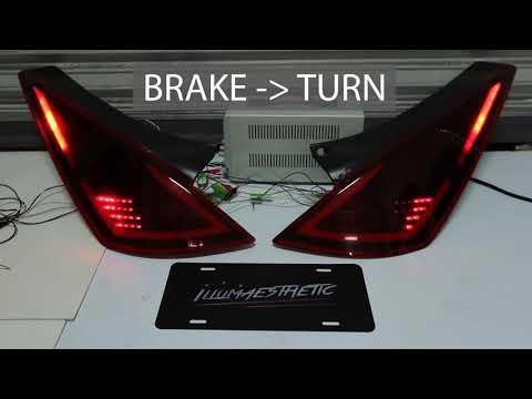 350Z Custom LED Tail Lights - Illumaesthetic Demo
