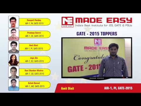 Amit Dixit PI-AIR 1, GATE 2015 MADE EASY