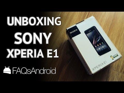 Unboxing Sony Xperia E1 en español | FAQsAndroid.com