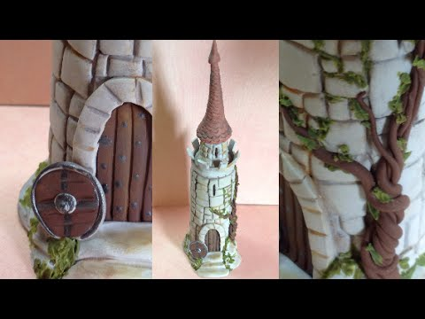 Castle Bottle Polymer Clay Fimo Youtube