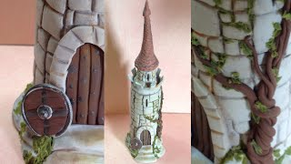 Castle/ bottle- Polymer clay/Fimo