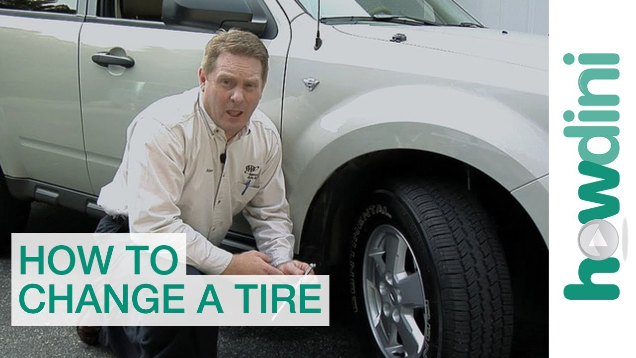 how to change a tire | change a flat car tire stepstep