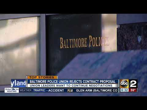 Baltimore Police Union rejects city-proposed contract