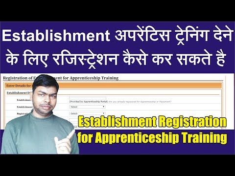 Procedure to Registration of Establishment for Apprenticeship Training