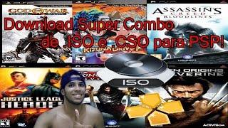 (Super combo) Onde Baixar jogos de PSP para utilizar no emulador PPSSPP (.ISO e .CSO)