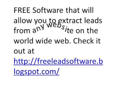 Free Lead Generation Software