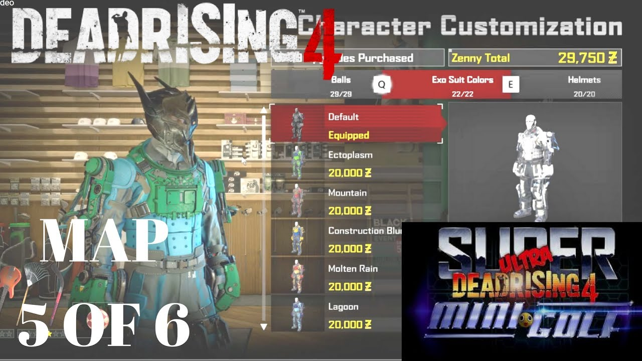 Dead Rising 4 Super Ultra Mini golf Map 5 of 6 The Industrial Zone on