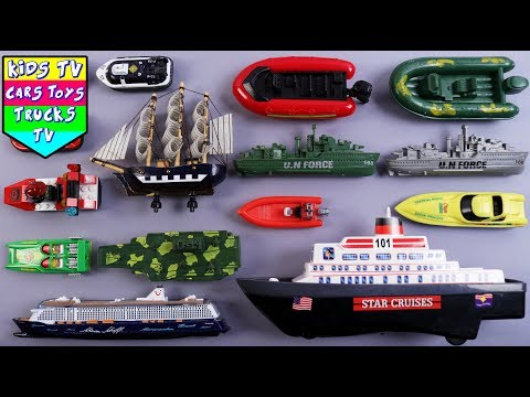 Learn Water Transport Vehicles For Kids Children Babies Toddlers | Ships Cruise Boat | Kindergarten