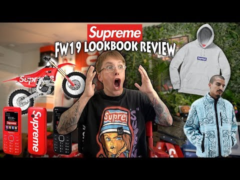 REACTING TO THE NEW SUPREME LOOKBOOK! FALL WINTER 19 IS HERE!