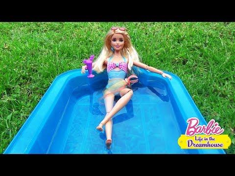 Мультик Барби и сестры в доме мечты с бассейном Кен, Райан в гостях Play doll ♥ Barbie Original Toys