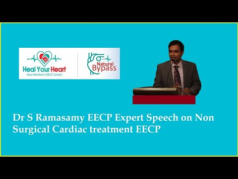 dr s ramasamy eecp expert speech on non surgical cardiac treatment eecp