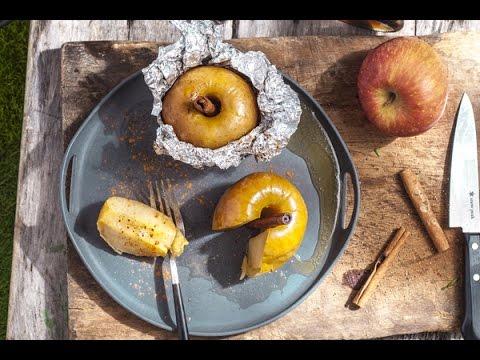 【龜甲萬】肉桂紅糖奶油烤蘋果,戶外料理這樣做