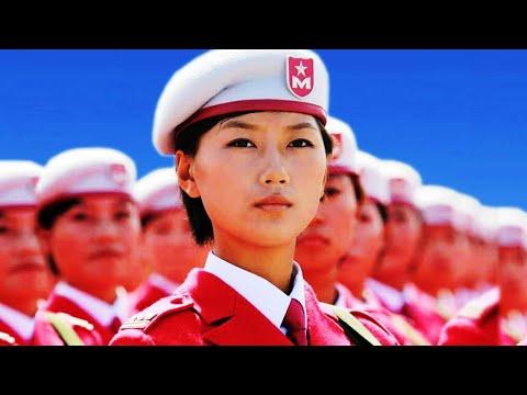Китайские девушки на параде, Воинственная красота, КАТЮША на китайском языке