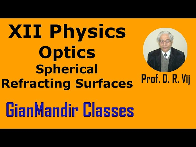 XII Physics | Optics | Spherical Refracting Surfaces by Poonam Ma'am