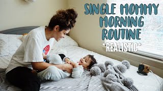 single mommy morning routine realistic