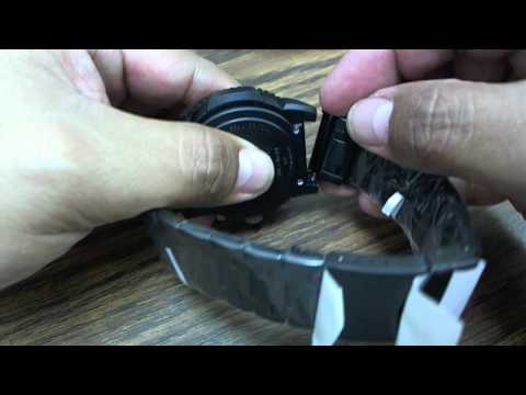 Replacement Black Steel Bracelet Band For Luminox Colormark Watches