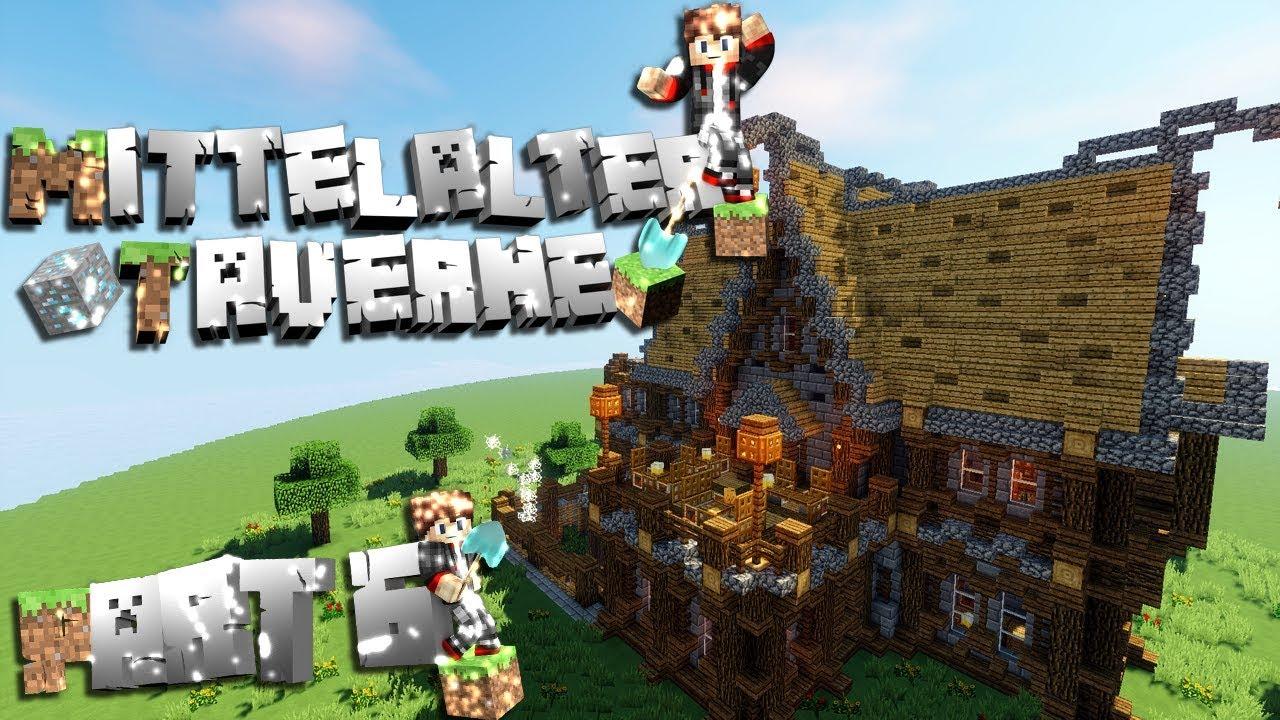 Minecraft mittelalterliche taverne schenke bauen tutorial - Minecraft inneneinrichtung ...