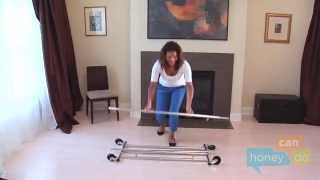 Honey-Can-Do GAR-01304 Collapsible Commercial Garment Rack with Wheels Instruction Video