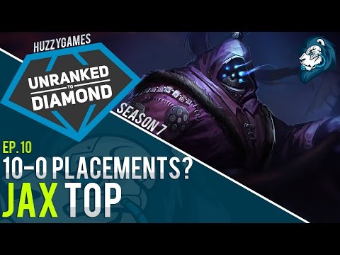 10-0 PLACEMENTS? JAX - Unranked to Diamond - Episode 10
