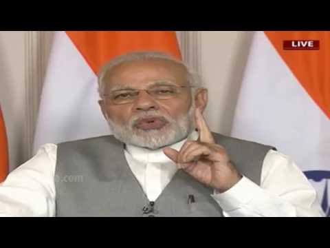 PM Modi addresses a gathering at Srisailam, Andhra Pradesh via full video conferencing