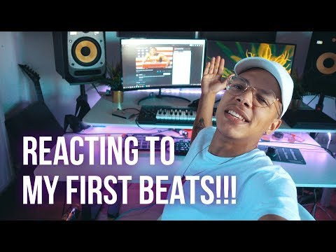 REACTING TO MY FIRST BEATS / RAP INSTRUMENTALS!!! (ChukI Beats)