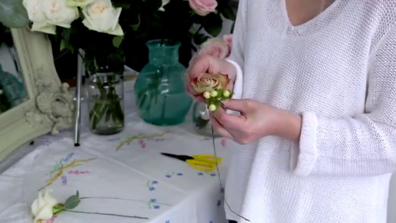 How To Make A Fresh Flower Headdress Youtube