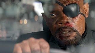 Горячая полицейская погоня за Ником Фьюри в Вашингтоне. Первый мститель. Другая война.