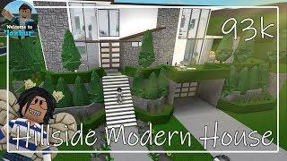 Roblox | HILLSIDE MODERN HOUSE | Bloxburg (93k)