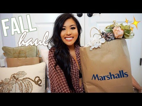 FALL DECOR & FASHION HAUL 🍁 (Marshalls, TJ Maxx, Target) *SUPER AFFORDABLE*