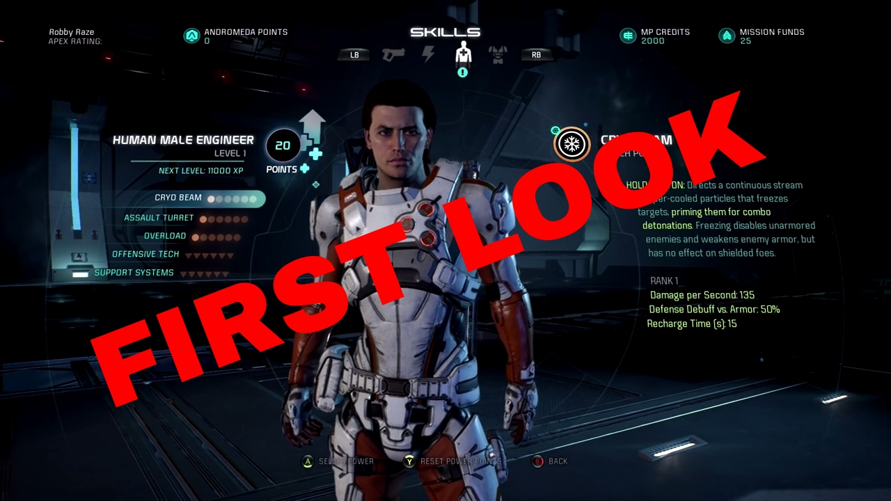 Human Engineer Build Mass Effect Andromeda