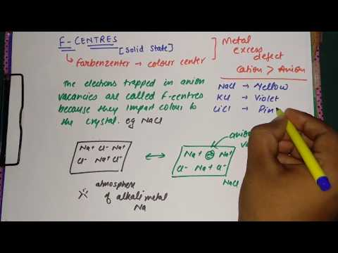 F centres ( full concept ) | Solid State | Bharat Panchal | CLASS-12th | Chemistry