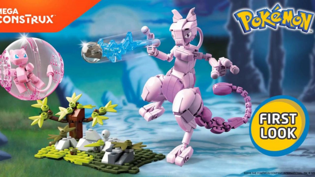 Mega Construx Mewtwo And Mew First Look Youtube