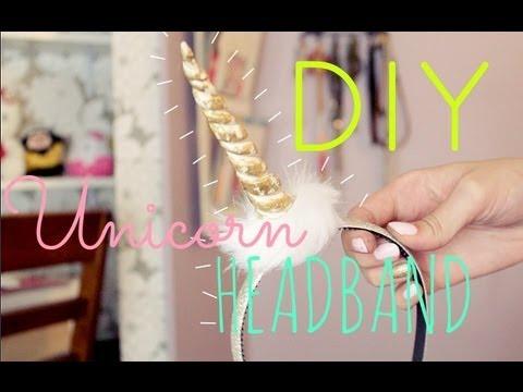 Diy Unicorn Headband Tutorial Gettingpretty Youtube